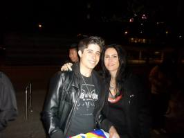 Me with my hero, Sharon den Adel