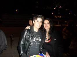 Me with my hero, Sharon den Adel