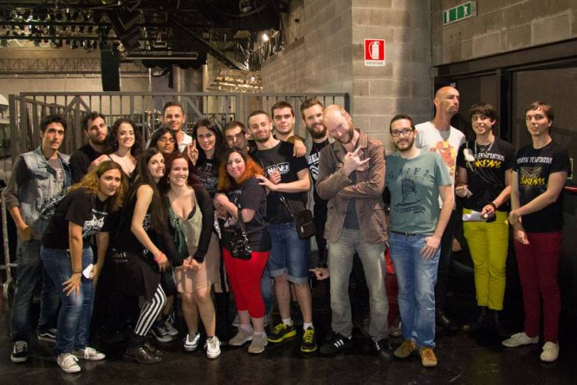 photo credit to Within Temptation's Facebook page I am on the far right!